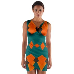 Rhombus and other shapes       Wrap Front Bodycon Dress