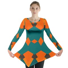 Rhombus and other shapes                                                                      Long Sleeve Tunic