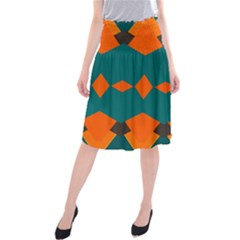 Rhombus and other shapes          Midi Beach Skirt