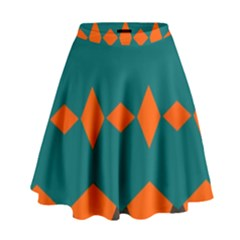 Rhombus and other shapes                                                                        High Waist Skirt