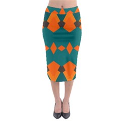 Rhombus and other shapes                                                                        Midi Pencil Skirt