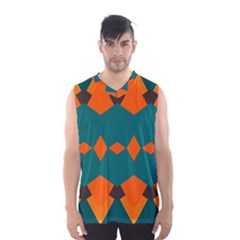 Rhombus and other shapes                                                                      Men s Basketball Tank Top