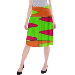 Wavy design            Midi Beach Skirt