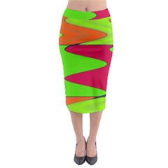 Wavy design                                                                          Midi Pencil Skirt
