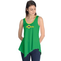 Brazil Flag Zouk Sleeveless Tunic