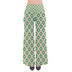 Crisscross Pastel Green Beige Pants