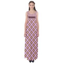 Crisscross Pastel Pink Yellow Empire Waist Maxi Dress