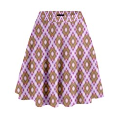 Crisscross Pastel Pink Yellow High Waist Skirt