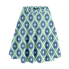 Crisscross Pastel Turquoise Blue High Waist Skirt