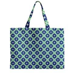 Crisscross Pastel Turquoise Blue Zipper Mini Tote Bag