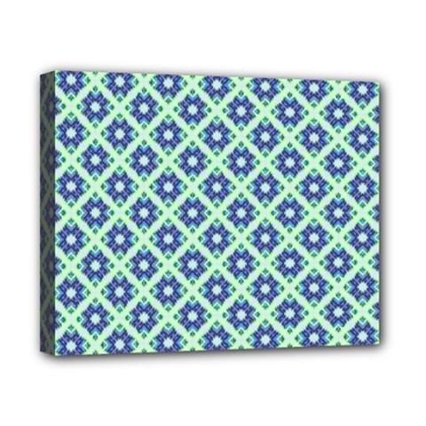 Crisscross Pastel Turquoise Blue Canvas 10  x 8