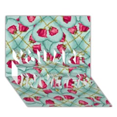 Love Motif Pattern Print YOU ARE INVITED 3D Greeting Card (7x5)