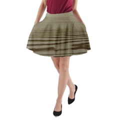 Wooden Waves A-Line Pocket Skirt