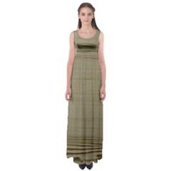 Wooden Waves Empire Waist Maxi Dress