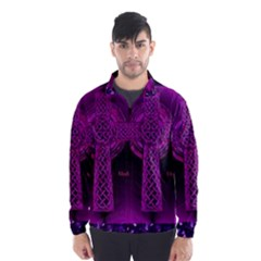 Purple Celtic Cross Wind Breaker (Men)