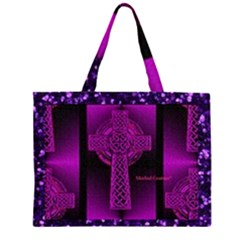 Purple Celtic Cross Large Tote Bag
