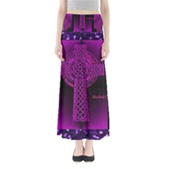Purple Celtic Cross Maxi Skirts