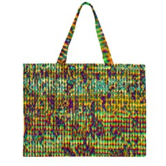 Multicolored Digital Grunge Print Large Tote Bag