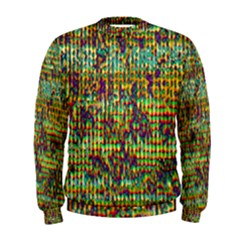 Multicolored Digital Grunge Print Men s Sweatshirt