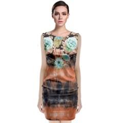 tie-dye1l Classic Sleeveless Midi Dress