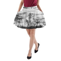 B&W Treescape A-Line Pocket Skirt