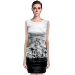 B&W Treescape Classic Sleeveless Midi Dress