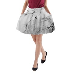 Tree Reflection A-Line Pocket Skirt