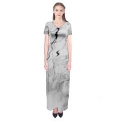 Tree Reflection Short Sleeve Maxi Dress
