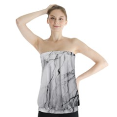 Tree Reflection Strapless Top