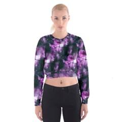 Celestial Purple  Women s Cropped Sweatshirt