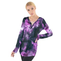 Celestial purple  Women s Tie Up Tee