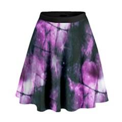 Celestial purple  High Waist Skirt