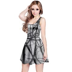 Tree Lines Reversible Sleeveless Dress