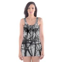 Tree Lines Skater Dress Swimsuit