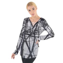 Tree Lines Women s Tie Up Tee