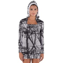 Tree Lines Women s Long Sleeve Hooded T Shirt