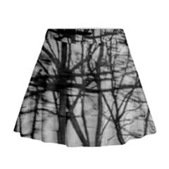 Tree Lines Mini Flare Skirt