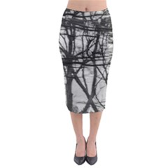 Tree Lines Midi Pencil Skirt