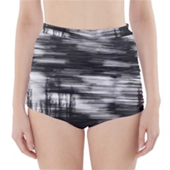 Tree Motion High Waisted Bikini Bottoms