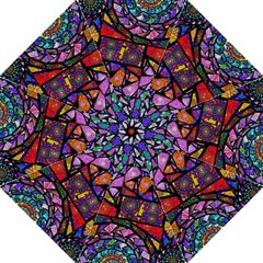Fractal Stained Glass Folding Umbrellas
