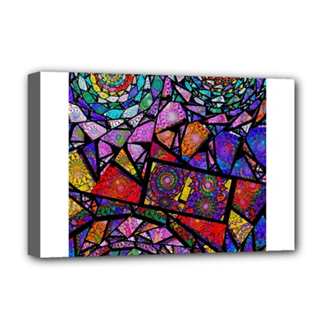 Fractal Stained Glass Deluxe Canvas 18  X 12