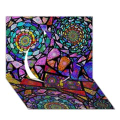 Fractal Stained Glass Circle 3D Greeting Card (7x5)