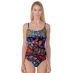 Fractal Stained Glass Camisole Leotard