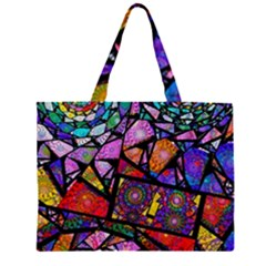Fractal Stained Glass Large Tote Bag