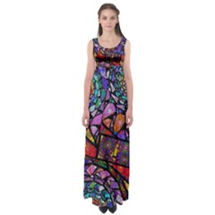 Fractal Stained Glass Empire Waist Maxi Dress