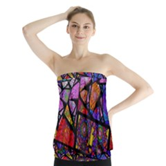 Fractal Stained Glass Strapless Top