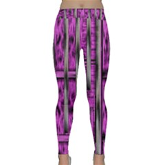 Purple Lace Landscape Abstract Shimmering Lovely In The Dark Yoga Leggings