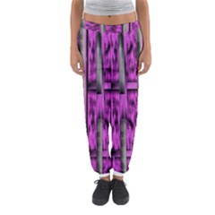 Purple Lace Landscape Abstract Shimmering Lovely In The Dark Women s Jogger Sweatpants