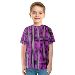 Purple Lace Landscape Abstract Shimmering Lovely In The Dark Kid s Sport Mesh Tee