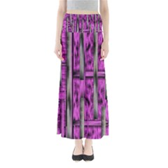 Purple Lace Landscape Abstract Shimmering Lovely In The Dark Maxi Skirts
